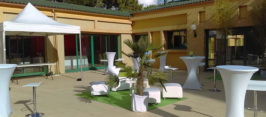 Terrasse location salle Saint Hilaire de Riez